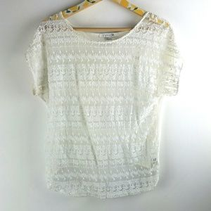 Forever 21 Lace Shirt Sz S